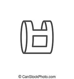 Plastic bag line outline icon