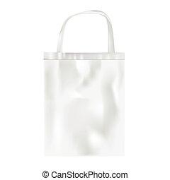 Plastic bag on white background, vector
