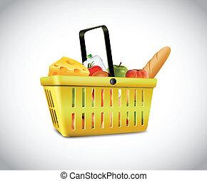 Plastic Basket With Food