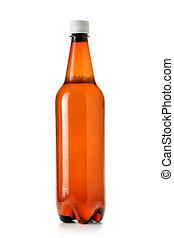 Plastic beer bottle