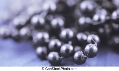 Plastic black beads - Group of beads of black plastic beads