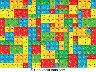plastic blocks. seamless texture - multicolor plastic...