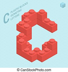 Plastic blocs letter C
