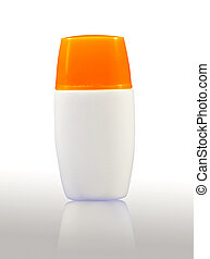Plastic bodylotion bottle