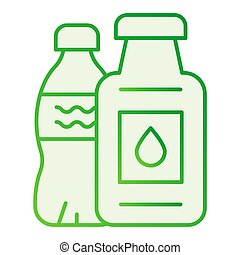 Plastic bottle ban flat icon. Plastic package ban gray icons in trendy flat style. Ecological gradient style design, designed for web and app. Eps 10.