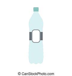 Plastic bottle flat icon
