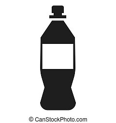 Plastic bottle icon, simple style - Plastic bottle icon....