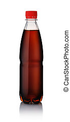 Plastic bottle of cola