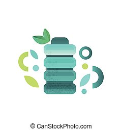 Plastic bottle of fresh water vector Illustration on a white background