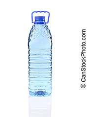 Plastic bottle of mineral water