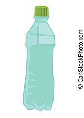 Plastic bottle of water vector illustration.