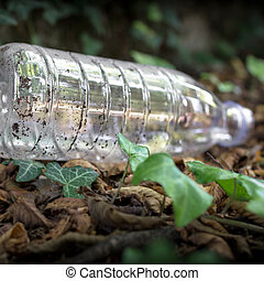 Plastic bottle on the ground