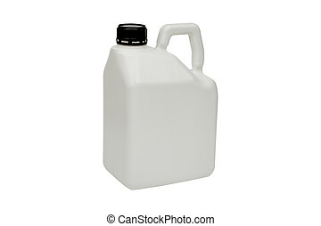 plastic bottle on white background