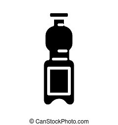 plastic bottle water silhouette style icon