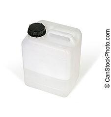 Plastic bottle - White plastic bottle (w clipping path)