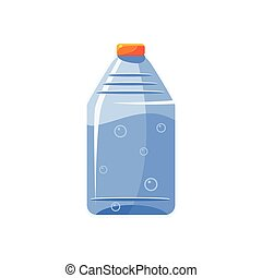 Plastic Bottle With Clear Water Simplified Icon