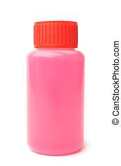 Plastic bottle with detergent