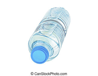 Plastic bottle with water isolated on a white background