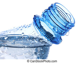 Plastic bottle with waterdrops