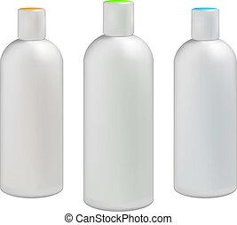 Plastic bottles for cosmetics