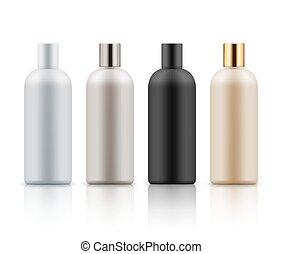 Plastic bottles for hair shampoo