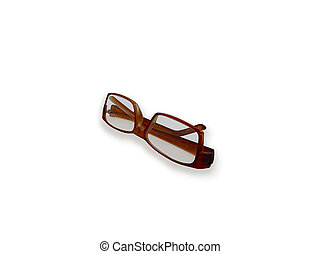 Plastic brown glasses with diopters for better vision