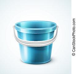 Plastic bucket - Isolated plastic bucket