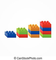 Plastic building Blocks chart.
