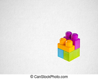 Plastic building blocks or lego blocks on a background  Plastic