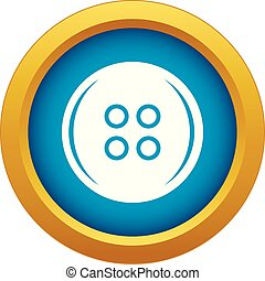 Plastic button icon blue vector isolated
