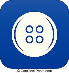 Plastic button icon digital blue
