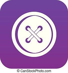 Plastic button icon digital purple