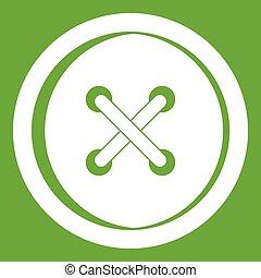 Plastic button icon green