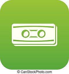 Plastic button icon green vector