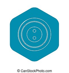 Plastic button icon, outline style