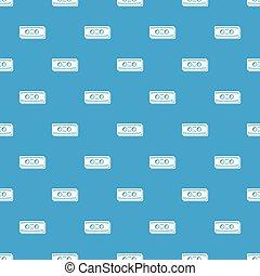Plastic button pattern vector seamless blue
