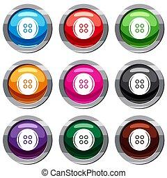 Plastic button set 9 collection