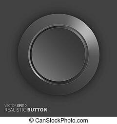 Plastic button, vector