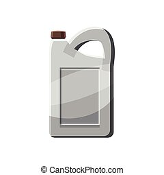 Plastic canister icon in cartoon style