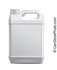 Plastic canister illustration