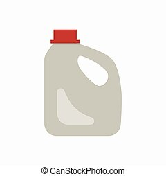 Plastic canister waste flat concept
