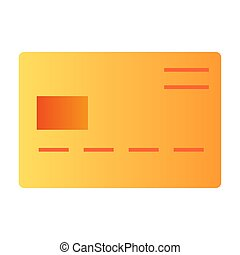 Plastic card flat icon. Credit card color icons in trendy flat style. Pay gradient style design, designed for web and app. Eps 10.