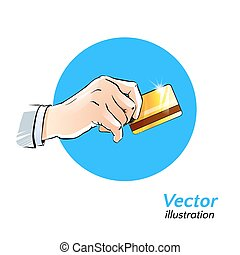 Plastic card. Vector illustration.