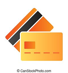 Plastic cards flat icon. Credit cards color icons in trendy flat style. Payment gradient style design, designed for web and app. Eps 10.