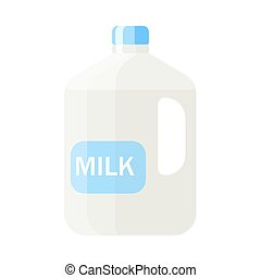 Plastic carton of milk vector illustration in flat style isolate