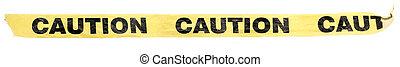 plastic caution tape - yellow plastic caution tape with...