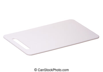 Plastic Chopping Board Isolated - Isolated image of a ...