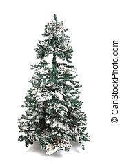plastic christmas tree isolated
