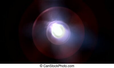plastic circle round and rays laser