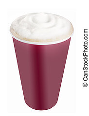 Plastic coffee cup templates